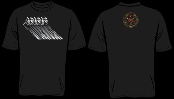 3x black t-shirt